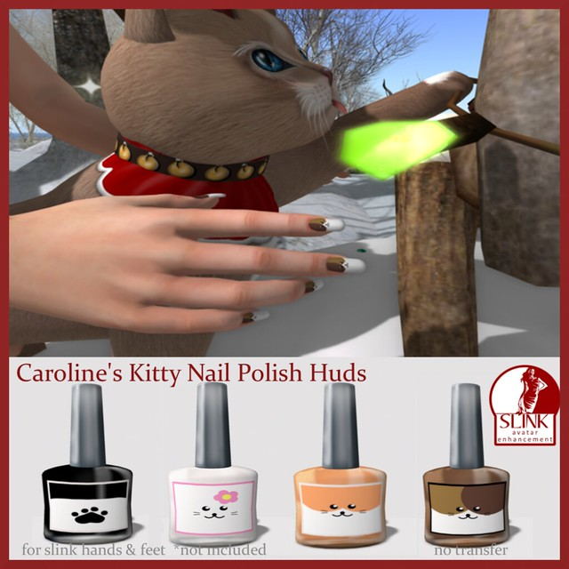 Caroline's Kitty Nail Polish Ad