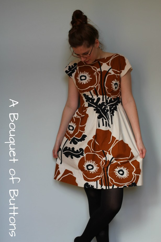 Anna dress, By hand London, curtain, gordijn, jurk, dress