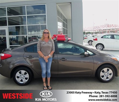Westside Kia would like to say Congratulations to Rebecca Dewrall on the 2014 Kia Forte from Rubel Chowdhury by Westside KIA