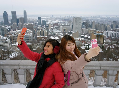 Selfie on Mont Royal Summit