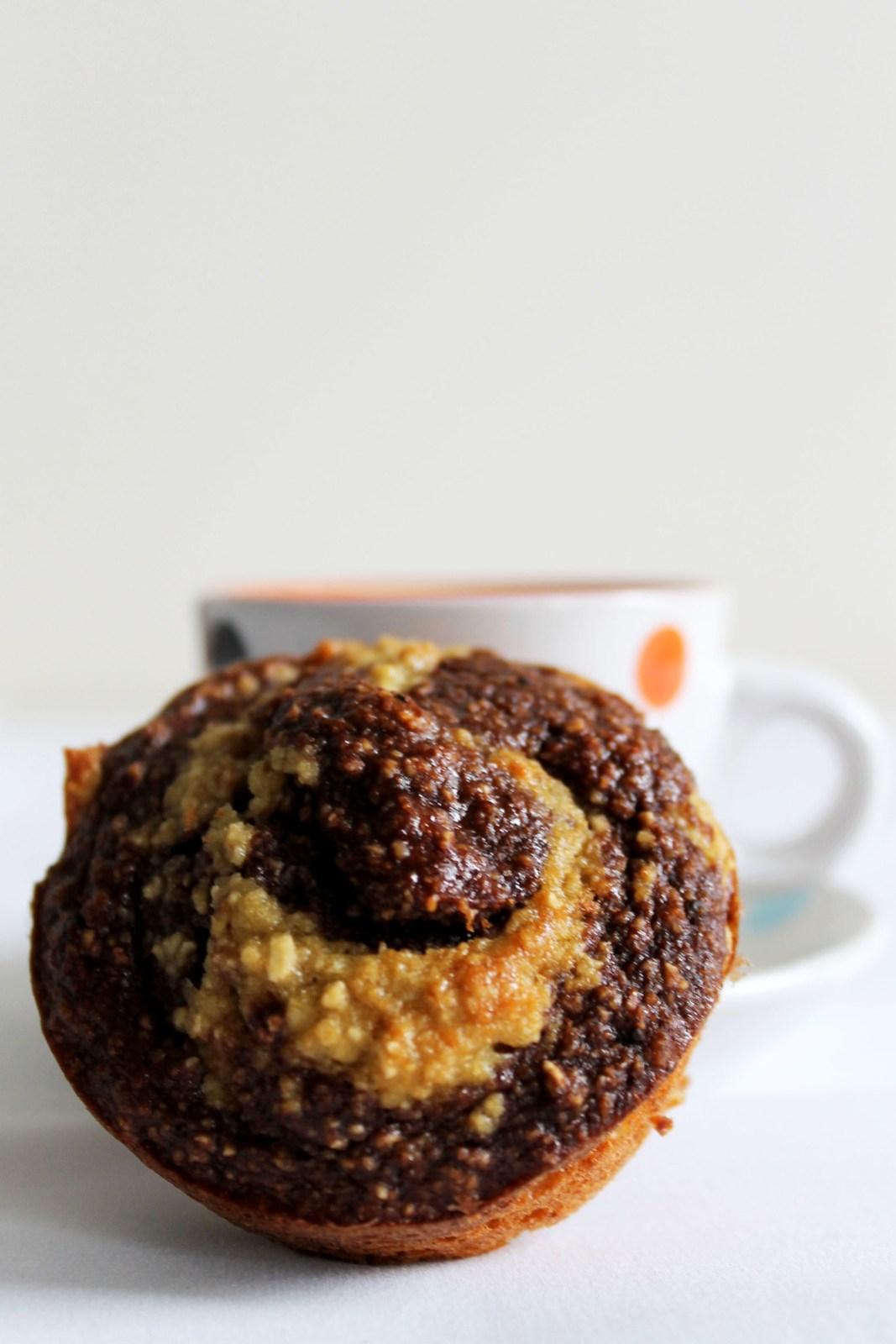 Banana Chocolate Swirly Muffins
