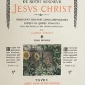 """Phillip Medhurst presents 400/740 James Tissot Bible c 1900 Jesus Looking through a Lattice Song of Solomon 2:9 from """"La Vie de Notre Seigneur Jésus Christ"""