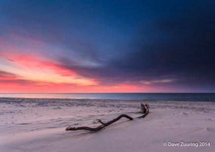 the After Glow op het Tesseler strand