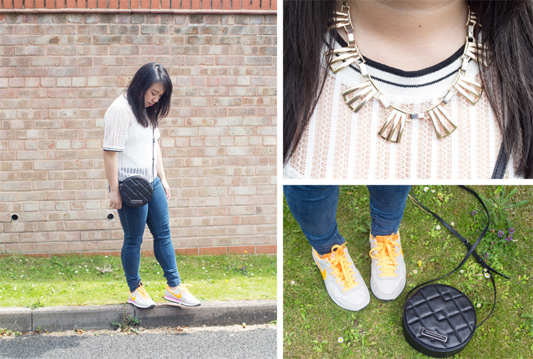 Monki Tee Collage outfit