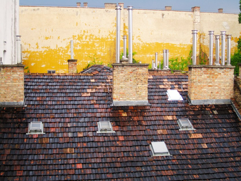 Random roof pipes from our room.