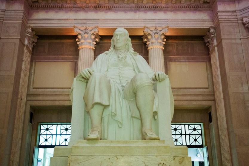Benjamin Franklin Statue in the Franklin Institute.