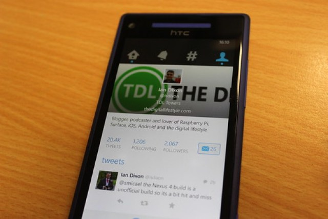 Twitter on Windows Phone