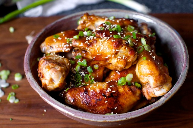 sticky sesame wings