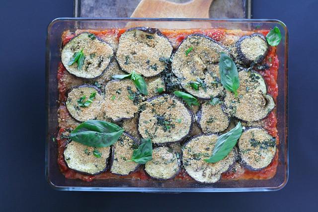 roasted eggplant with tomato and basil [ inthiskitchen.com ]