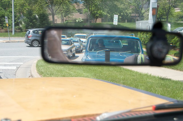 Always nice to see a Scout in the rearview