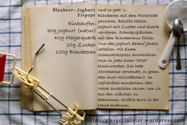 Einkaufszettel Blaubeer Eis Pops by Glasgeflüster