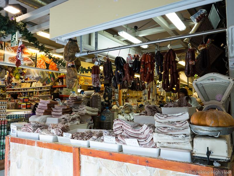 Fleischstand in La Laguna, Teneriffa