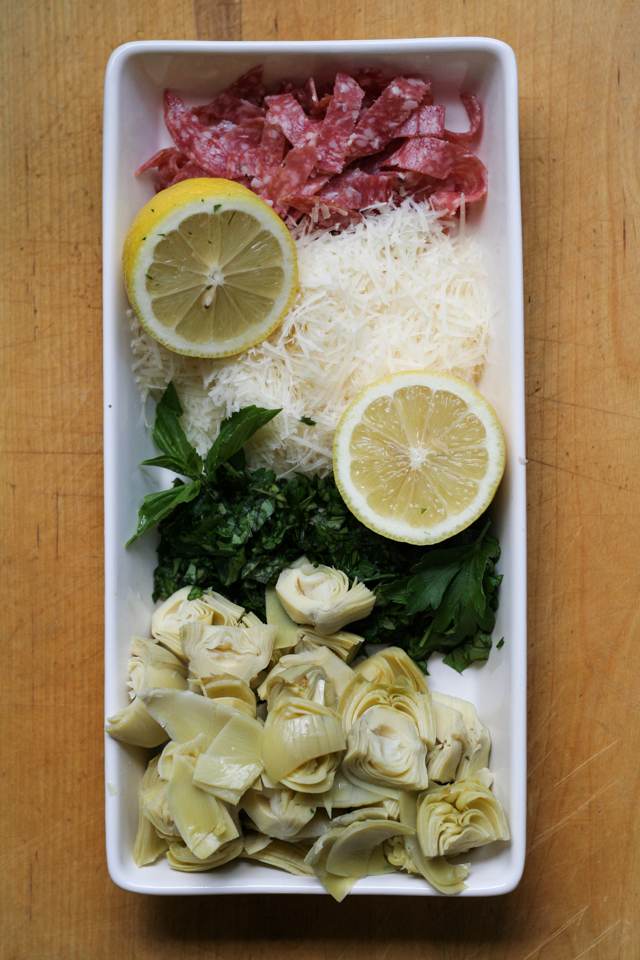 antipasto farro salad [ inthiskitchen.com ]