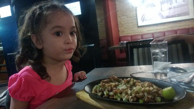 Lucy with the sisig
