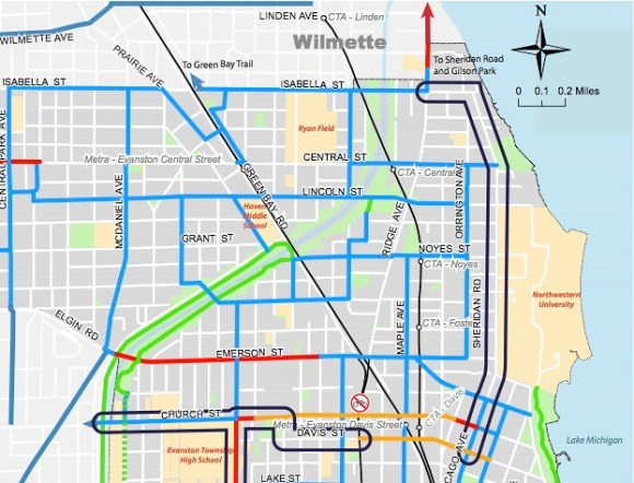 Evanston bike plan by Melissa