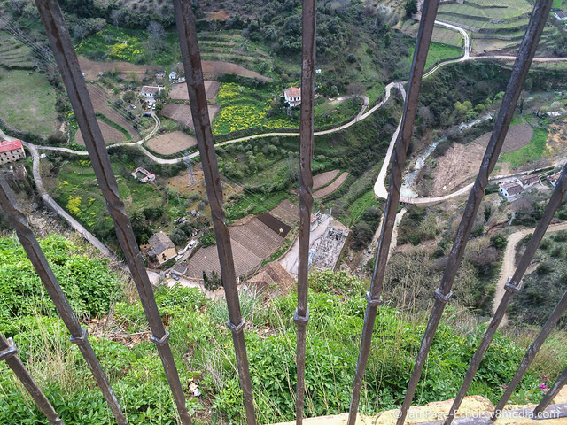 Looking down the cliff from Ronda