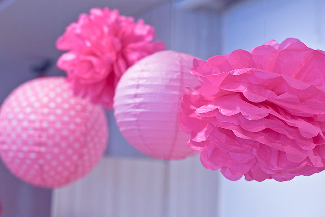 Pink Paper Decor