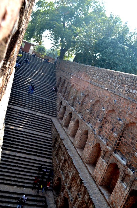 Agrasen ki Baoli : Try to count ... I didn't tried but I think there are 103 stairs
