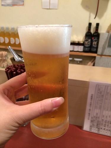 生ビール@按田餃子