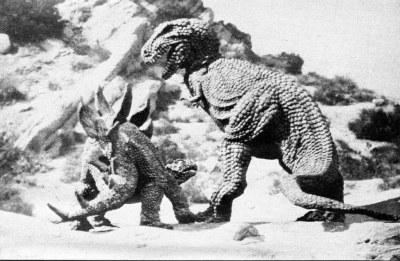 allosaurus and stegosaurus battle in Planet of Dinosaurs