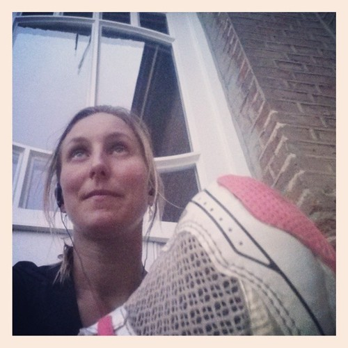 Kwestie van de dag goed af te sluiten #selfie #behindmyrunningshoe #runfie