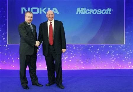 Microsoft and Nokia Shaking Hands