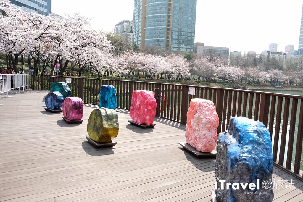 首尔赏樱景点 乐天塔石村湖 (30)