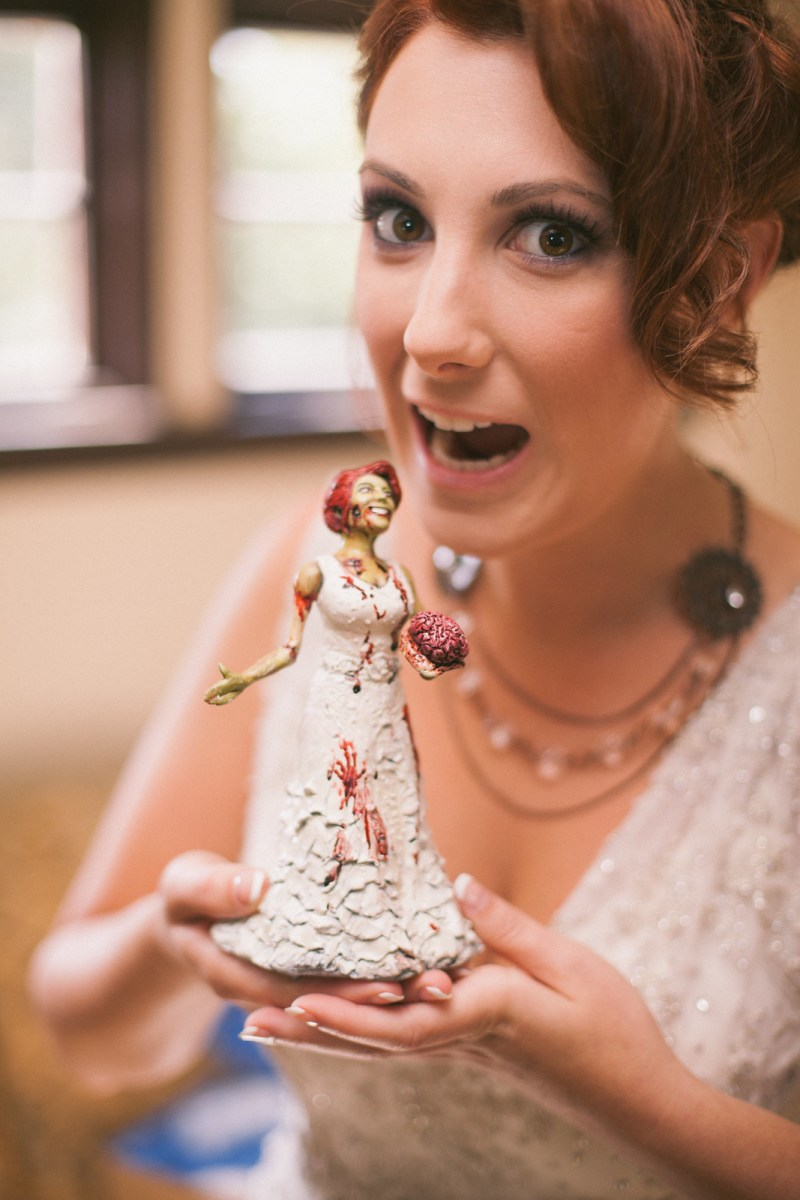 Bride and her topper