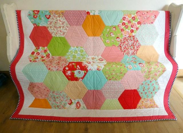 Rosie's 50th Quilt: Scrumptuous Half Hexie