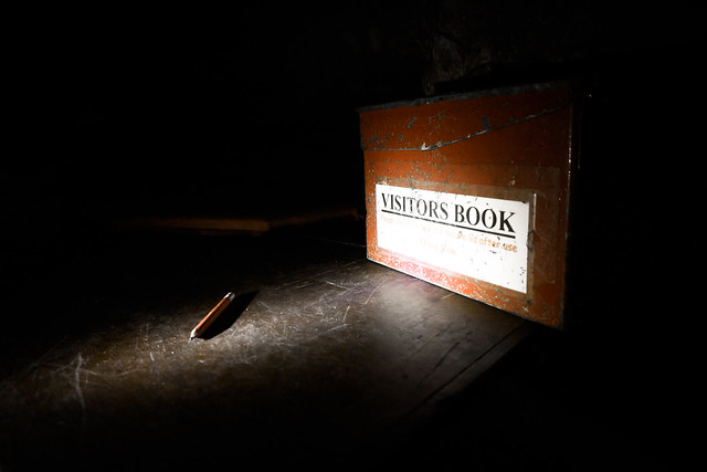 Secret Cave: Visitor's Book