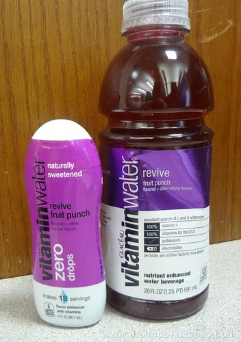 VitaminWater Zero Revive Drops with regular Revive