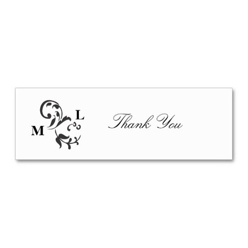 Elegant Swirl Wedding Favor Thank You Tags Business Card Template
