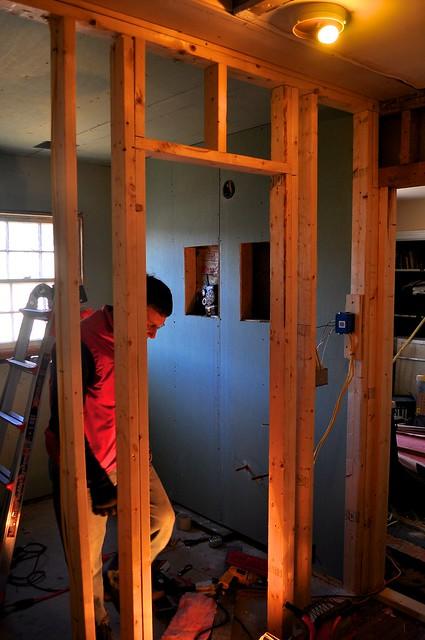 2012-02-12 Bathroom insulation and sheetrock 01