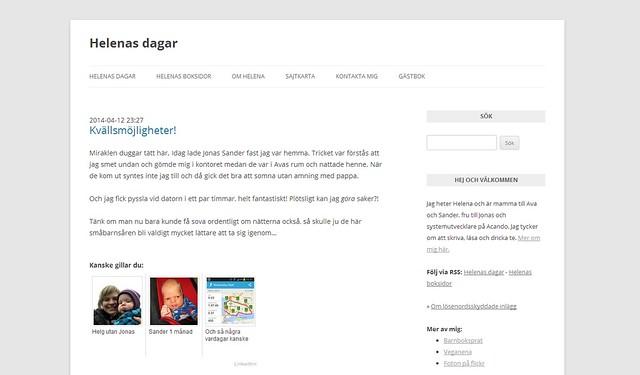 Avklädd blogg