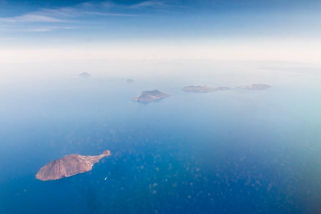 isole Eolie aus der Luft