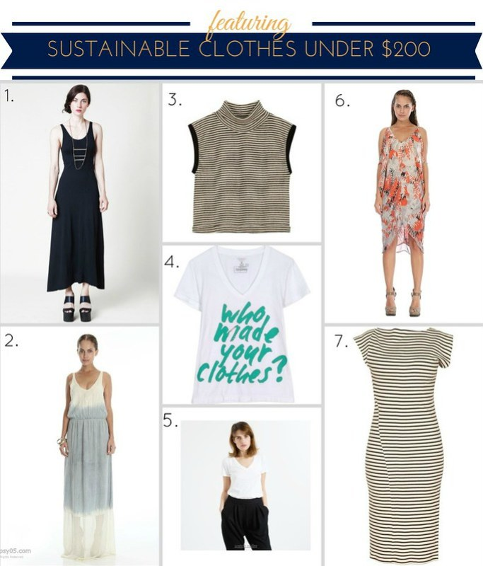Sustainable clothes under 200