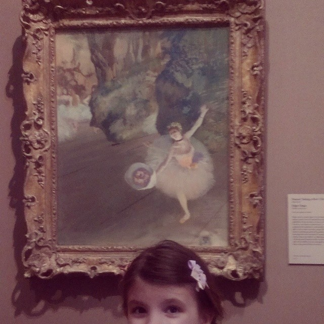 Just like the picture in the Olivia book. ;-) #degas #artmuseumday #homeschool