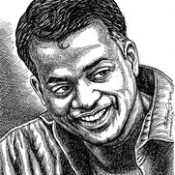Director and Producer GAUTHAM  MENON Portrait by Indian Artist Anikartick,Chennai,Tamil Nadu,India.
