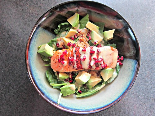 Superfood Salad with Pan-Seared Salmon 2