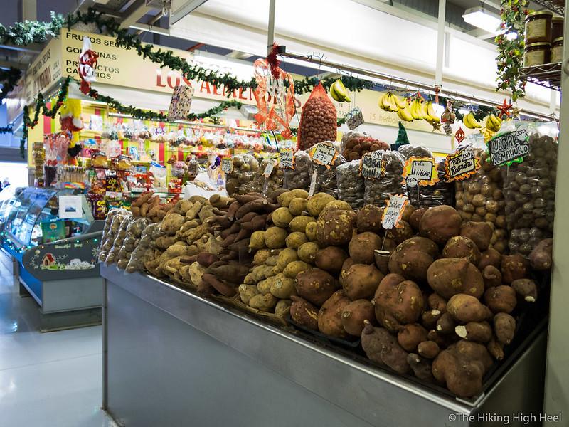 Kartoffelnstand in La Laguna, Teneriffa