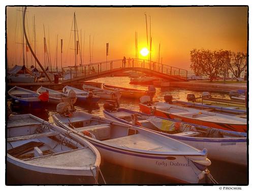 Sonnenuntergang in Bardolino