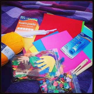 Okay; what shall we make with our @tots100 #bostikfamilycraftbloggers craft pack this month!