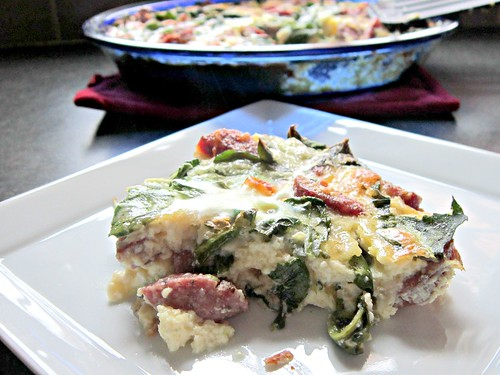 Smoked Venison & Gruyere Quiche with Spinach, Kale, and Arugula 2