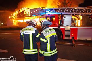 Vollbrand Einkaufsmarkt Mainz-Kastel 21.04.14