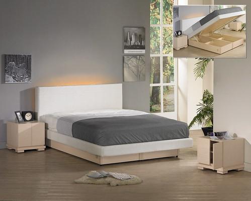 掀床工廠推薦款-時尚白橡床台-高質感排骨透氣掀床床架組1
