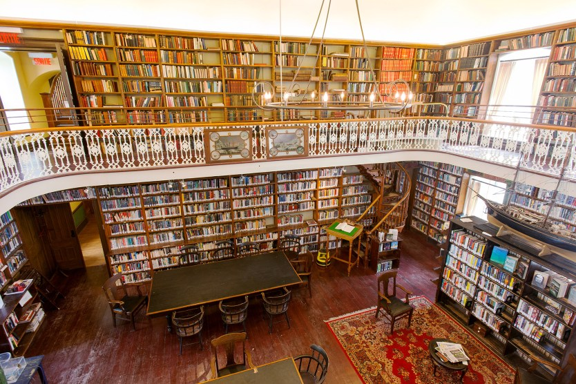 The Library viewed from upstairs.
