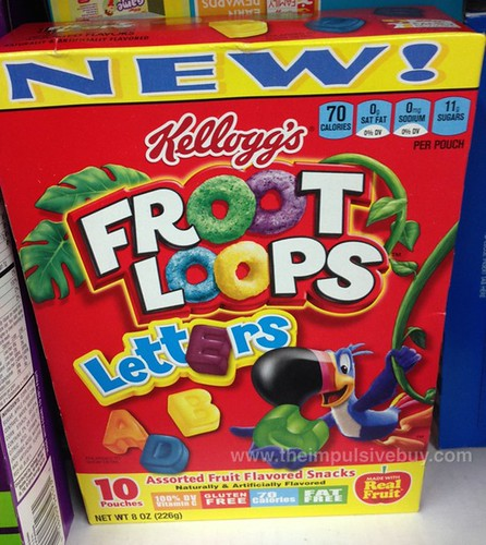 Kellogg's Froot Loops Letters Fruit Flavored Snacks