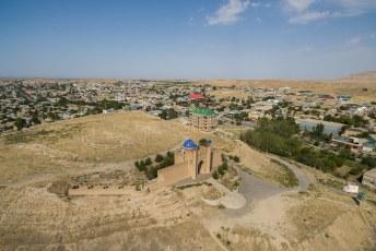 Daarna nog even vliegen met mijn drone over het Mug Tepe fort. Ooit door Alexander de Grote met de grond gelijk gemaakt.