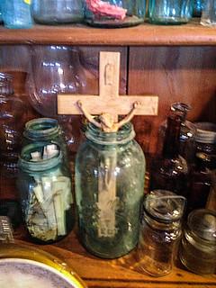 Mason Jar Crucifix