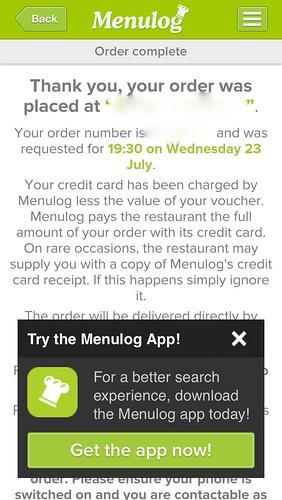 menulog - app confusion